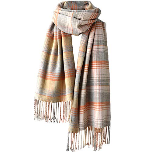 YAKEFJ Dames Herfst Winter Sjaal Klassieke Plaid Tartan Warm Zachte Chunky Grote Deken Wrap Sjaal Sjaals