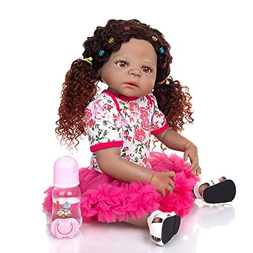 TTWLJJ Muñecas recién Nacidas,Simulación Renacer Muñeca 55Cm 22 Pulgadas Vinilo bebé para niños Regalo de cumpleaños
