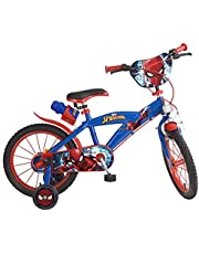 Toimsa 876 Bike Boy - Spiderman - 5 tot 8 jaar, 16 inch