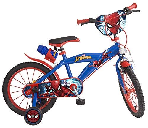 Toimsa Vélo Garçon-Spiderman-5 à 8 Ans, 876, 16 Pouces