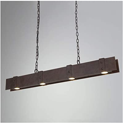 Lámparas de araña Lámpara de LED de Madera Retro Industrial ...