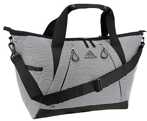 adidas Women's Studio Duffel Bag, Optic Stripe/Black, ONE SIZE