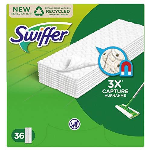 Swiffer Bodenwischer Trockene Bodentücher (216 Tücher) Wischer ideal gegen Staub, Tierhaare & Allergene (6 x 36)