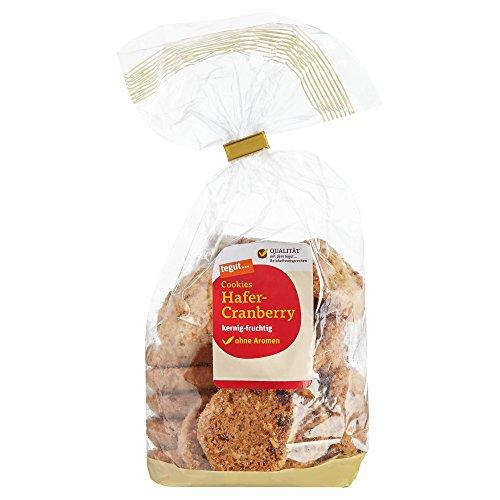 tegut... Cookies Hafer-Cranberry, Mürbegebäck, 1 x 200 g