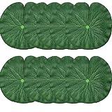 Yue Qin Hoja de Loto Artificial Hojas de Loto de Espuma Flotante Artificial Hojas de Lirio de Agua para Jardín de Casa, Terraza, Estanque, Piscina, Boda, Decoración