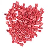 100pcs Fully Insulated Wire Crimp Terminal Nylon Quick Connectors...