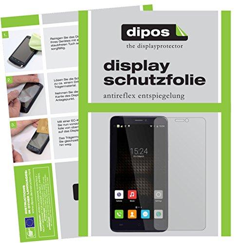 dipos I 2X Schutzfolie matt kompatibel mit Cubot Max Folie Bildschirmschutzfolie