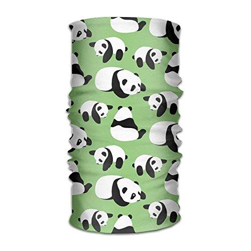 Ejdkdo Headband Bandanas Funny Panda Versatile Multifunction Magic Scarf Neck Gaiter Balaclava Helmet Liner Riding Face Mask for Kids Women Men Outdoors UV Protection Design11