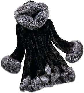 Women's Long Sleeve Faux Fur Shearling Shaggy Oversized Coat Parka Hooded Long Trench Warm Winter Overcoat S-6XL Nevera