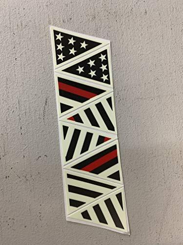 Reflective American Flag Helmet Sticker