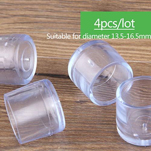 Juego de 30 piezas de goma adhesiva antideslizante para muebles de bricolaje resistente a los arañazos de los pies de los pies de la mesa de patas, taburetes de sillas, rosa