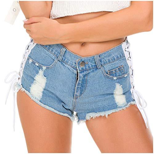 NPRADLA Frauen Mädchen Quaste Verband Party Nacht Club Ausgefranste Seil String Jeans Shorts Hotpants