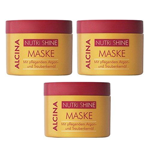 3er Alcina Nutri Shine Maske mit pflegendem Argan und Traubenkernöl je 200 ml = 600 ml