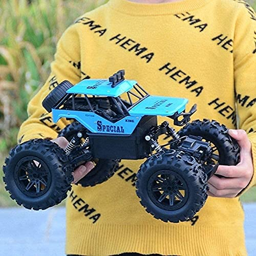 DHTOMC Oversized 1:14 Alloy All-Terrain Climbing Mountain Bigfoot High Speed Rive Remote Control Toy Model Off-Road VE