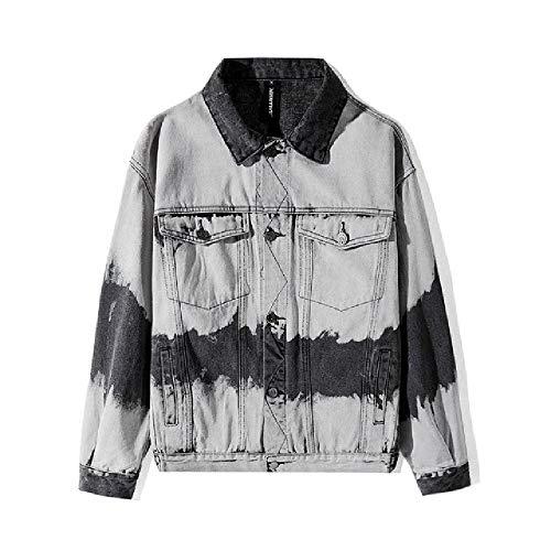 LILIZHAN Japanse Oude Retro Denim Jas Herenherfst Nieuwe Casual Jeans Jas Denim Jas voor Mannen Losse Harajuku Streetwear Jas