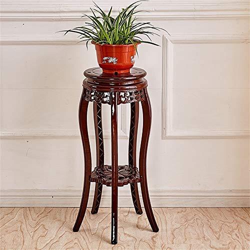 YINUO Jardinière Accueil Intérieur fleurs Pot Rack chinois classique imitation bois plastique fleur Shelf multicouche Balcons Plancher Succulent rack rouge usine brun (Size : 22x30x78cm)