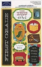KAREN FOSTER Design Acid and Lignin Free Scrapbooking Sticker Sheet, I'm in First Grade