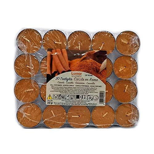 Lumar Aromatic Velas de té aromáticas (Canela en Rama Pack 20 Velas)