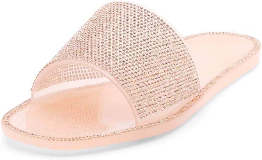 Herstyle Anabell Women's Rhionestone slides Beach Jelly Sandals
