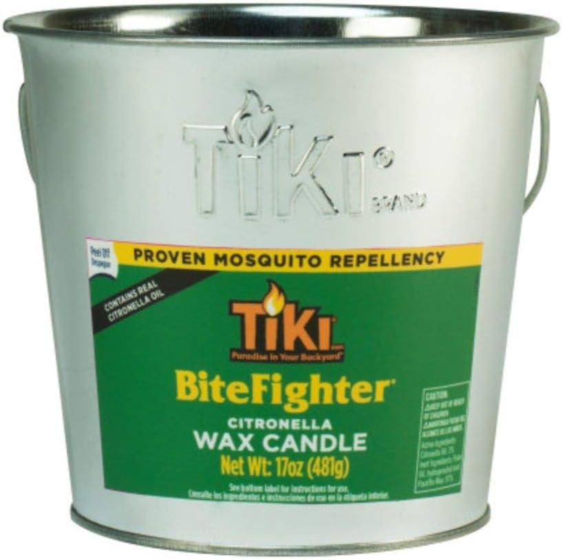 TIKI 1418014 Brand 17 oz. BiteFighter Galvanized Citronella Wax