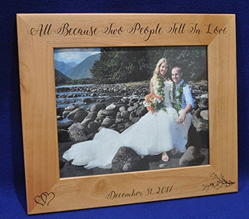 Amazon Com Wedding Gifts For Bride And Groom Wedding Gift Engraved Picture Frame Custom Wedding Frames Bridal Shower Gifts Custom Frames Photo Gifts Anniversary Gift Falling I Love Quotes Handmade