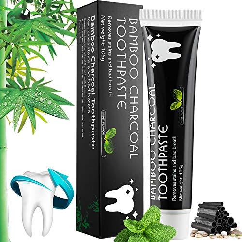 Aktivkohle Zahnpasta -Whitening Schwarze Zahncreme -Natürliche Zahnaufhellung und Zahnreinigung Bambus Kohle Zahnpasta -Bleaching Bamboo Charcoal Toothpaste -Aktivkohle Zahncreme Raucher 105g