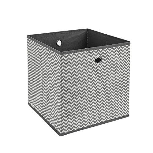 Homfa 12 Stück Aufbewahrungsbox Stoff Set Faltbox Aufbewahrungskorb Regalbox Regalkörbe Ordnungsbox Stoffbox Kiste Aufbewahrung für Kallax Schrank Ordnungssystem Grau 30x30x30cm