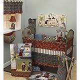 Cotton Tale Designs 7 Piece Crib Bedding Set, Pirates Cove, Red/Black/White/Blue/Brown