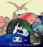 Tente de Rêve Tente de Lit Enfants Tente Playhouse de Tente Apparaitre Intérieure Enfant Jouer Tentes Cadeaux de Noël pour Enfants (Parc des Dinosaures)