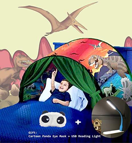 Nifogo Tiendas de ensueño, Carpa de Ensueño Wizard World, fantasía Interior de la Cama Redes de Regalo, Children Play Cama Tienda de Campaña (Parque de Dinosaurios)
