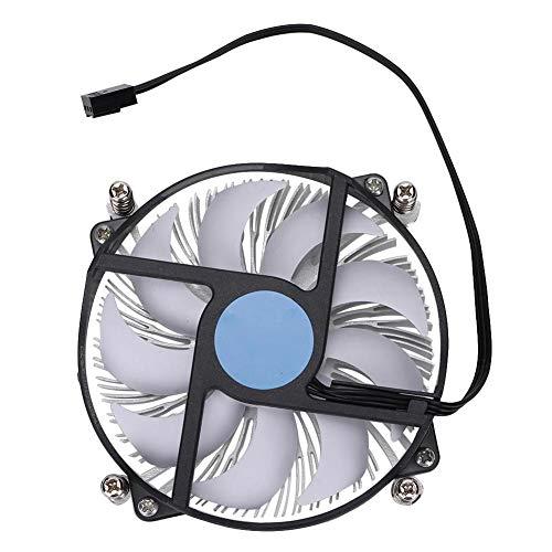 Ventilator, ultradunne CPU-koeler met sterke warmteafvoer, CPU-koellichaam en ventilator voor Intel 115-serie, stille ventilator met hydraulische technologie(4P temperatuurregeling)