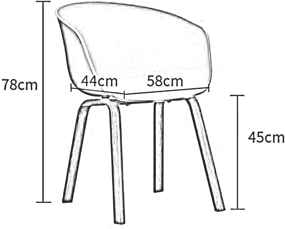 DALL Chaise De Salle À Manger Jambes De Bois Siège en Plastique De Loisirs Chaise De Dossier De Restaurant Hauteur D'assise 45cm (Color : Gray) Green