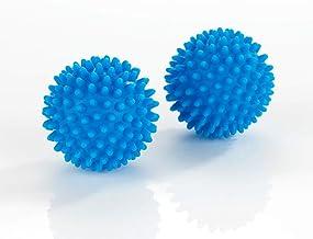 WENKO Multi-Funktionsbälle - 2er Set Multi-Funktionsball für flauschigere Wäsche, Polyvinylchlorid, 7 x 7 cm, Blau