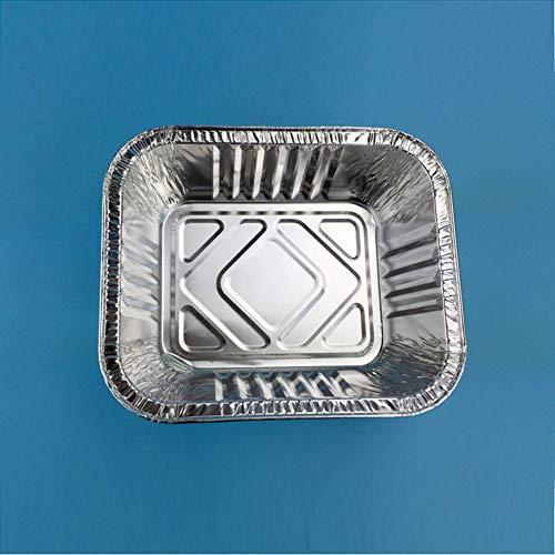 ukoudadao9haowanh Einweg-Broilerpfannen aus Aluminiumfolie, ideal zum Kochen, Erhitzen, Aufbewahren, Vorbereiten von Lebensmitteln, Klettern, 2 Sets