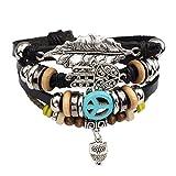 Diamondo Unisex Men Women European Fashion Handmade Alloy Bead Multi Bracelet