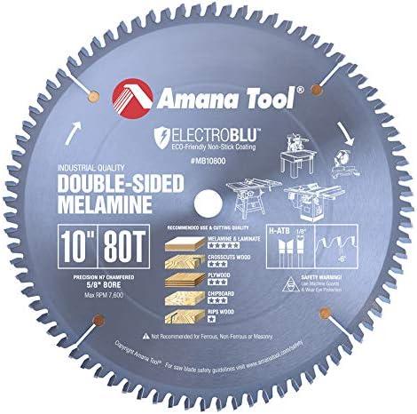 "lowest Amana Tool - MB10800C Electro-BLU outlet sale Carbide Tipped Double-Face Melamine outlet sale 10"" Dia x 80T H- online sale"