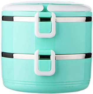 ZLDGYG Themral Lunch Box  Stackable Insulated Stainless Steel Lunch Container With Portable Lunch Bag  Large Capacity tier blue   Color Green