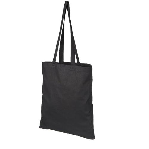 f30861c5a NATURAL COTTON TOTE SHOPPER BAG - 3 COLOURS - LOW PRICE (BLACK): Amazon.co. uk: Luggage