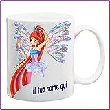My Cust Mug Tazza Winx,Fata Web, Personalizzata con Nome Frase O Foto - Idea Regalo