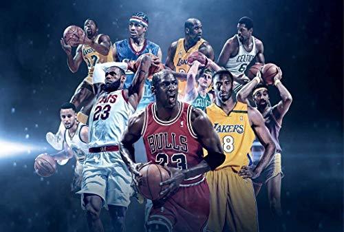Póster de la NBA Pgreatest para jugadores de baloncesto de 30 x 18 cm