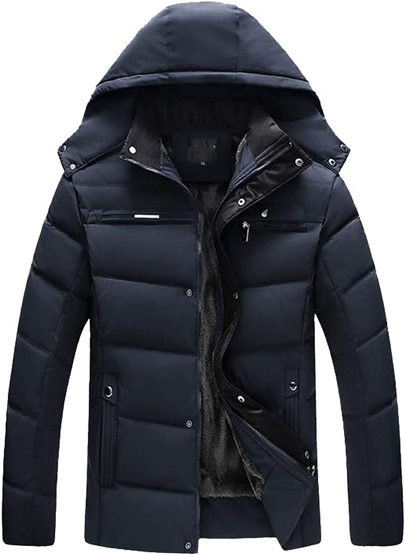 SmallYin 40% Men Jacket Men Boys Casual Warm Hooded Winter Zipper Coat Outwear Jacket Top Blouse