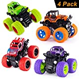 Monster Trucks Inertia Car Toys - Friction Powered Car Toys for Toddlers Kids