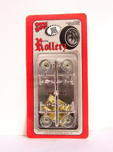 Low Rollerz Chrome Deep Dish Spoked Rims Wheels (for Hobby Model Kits) 1/24 1/25 scale