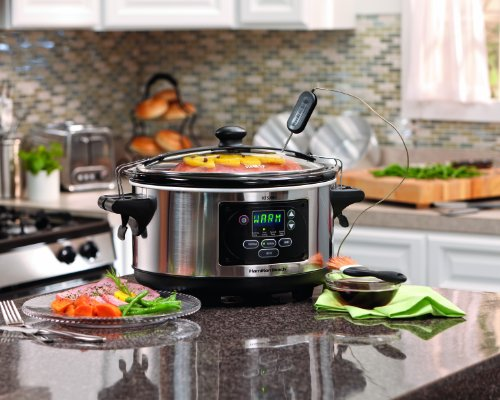Hamilton Beach Set 'n Forget Programmable Slow Cooker With Temperature Probe, 6-Quart (33969)