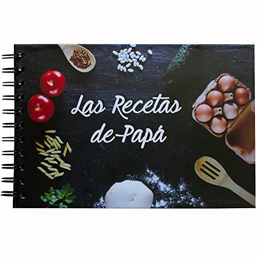 My Berry Own - Libro Las Recetas de Papá, Recetario A5, 100 páginas de recetas en blanco, con separadores de categorías, español, regalo día del padre