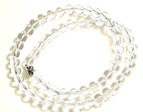 AAAグレード 美しく光る 水晶 ネックレス 直径8mm/50cm
