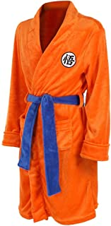 Clothing Bathrobe Pajama Dragon Ball Z Super Saiyan Son Goku Nightwear Sleepwear Flannel Kimono Plush Spa/Bath Robe for Kids & Adult