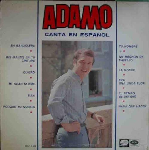 Antiguo vinilo - Old Vinyl .- ADAMO Canta en Español.
