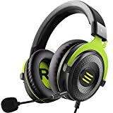 EKSA E900 Stereo Gaming Headset-Xbox one Headset Wired Gaming Headphones with Noise Canceling Mic, Over Ear Headphones Compatible with PS4, Xbox One, Nintendo Switch, PC, Mac, Laptop(Green)
