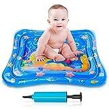 Ventvinal Alfombrilla de agua para bebé, colchoneta inflable para juegos de agua con elementos flotantes móviles, juguetes para bebés con crecimiento de, se aplica a 3 6 9 meses bebé (100 * 80 cm)